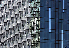 Exterior view of facade with outer envelope detail, The American Embassy in Nine Elms, London, UK - ARC104007