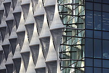 Exterior view of facade with outer envelope detail, The American Embassy in Nine Elms, London, UK - ARC104008