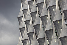 Exterior view of facade with outer envelope detail, The American Embassy in Nine Elms, London, UK - ARC104009