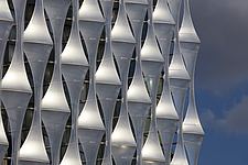 Exterior view of facade with outer envelope detail, The American Embassy in Nine Elms, London, UK - ARC104011