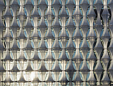 Exterior view of facade with outer envelope detail, The American Embassy in Nine Elms, London, UK - ARC104013