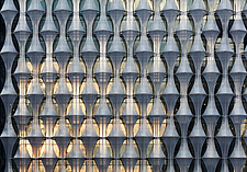 Exterior view of facade with outer envelope detail, The American Embassy in Nine Elms, London, UK - ARC104014