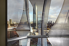 View from office toward the River Thames, The American Embassy in Nine Elms, London, UK - ARC104020