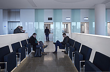 Interior view of waiting area in The American Embassy in Nine Elms, London, UK - ARC104034
