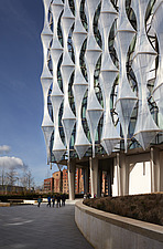 Exterior view of facade with outer envelope detail, The American Embassy in Nine Elms, London, UK - ARC104041