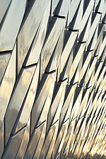 Close up detail of the facade of The MAAT - Museum of Art, Architecture and Technology, Lisbon, Portugal - ARC104056