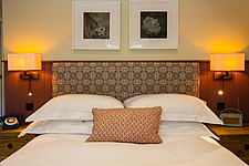Bedroom at The Village Pub, a pub and boutique hotel in Barnsley, Oxfordshire, UK - ARC104387