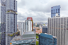 Aerial view of buildings in Singapore central business district, downtown, Tanjong Pagar - ARC104549