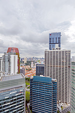 Aerial view of buildings in Singapore central business district, downtown, Tanjong Pagar - ARC104552