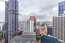 Aerial view of buildings in Singapore central business district, downtown, Tanjong Pagar - ARC104554