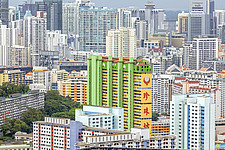 Cityscape of high-rise buildings in Chinatown, Singapore - ARC104560