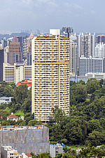 Pearl Bank Apartments & Singapore cityscape - ARC104563