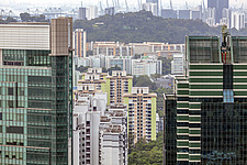 Cityscape view of residential buildings in Telok Blangah district, Singapore - ARC104567