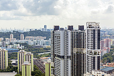 Cityscape view of residential buildings in Telok Blangah district, Singapore - ARC104584