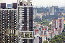Cityscape view of residential buildings in Telok Blangah district, Singapore - ARC104587