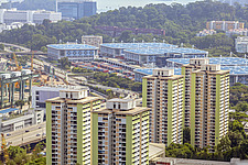 Cityscape view of residential buildings in Telok Blangah district, Singapore - ARC104589