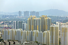 Cityscape view of residential buildings in Tiong Bahru district, Singapore - ARC104595