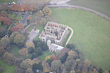 Aerial view of the ruins of Sutton Scarsdale Hall, Derbyshire, England, UK - ARC104668