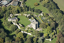 Aerial view of Saltwood Castle, Kent, England, UK - ARC104706