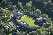 Aerial view of Saltwood Castle, Kent, England, UK - ARC104707