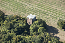 Aerial view of the Belvedere, Waldershare Park, Kent, England, UK - ARC104710