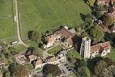 Aerial view of The archbishops palace, Charing, Kent, England, UK - ARC104714