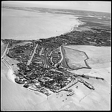 Aerial view of the Outer Part of Town Eastward and Westward in 1961, Harwich, Essex, England, UK - ARC104772