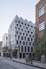 External view of the Rivington Place gallery by David Adjaye, home of  Autograph ABP in Shoreditch, London, Uk - ARC105645