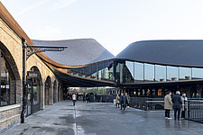 Coal Drops Yard by Heatherwick Studio is a retail district in London King's Cross, UK - ARC105718
