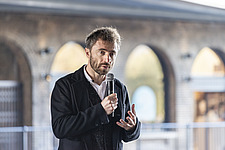 Architect Thomas Heatherwick speaks at the press preview of Coal Drops Yard, a retail district in London's King's Cross, UK - ARC105723