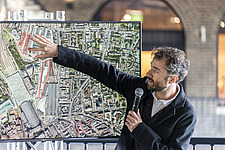 Architect Thomas Heatherwick speaks at the press preview of Coal Drops Yard, a retail district in London's King's Cross, UK - ARC105724