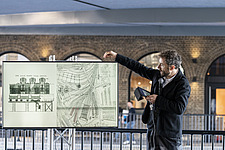 Architect Thomas Heatherwick speaks at the press preview of Coal Drops Yard, a retail district in London's King's Cross, UK - ARC105726