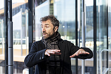 Architect Thomas Heatherwick speaks at the press preview of Coal Drops Yard, a retail district in London's King's Cross, UK - ARC105734