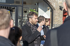 Architect Thomas Heatherwick speaks at the press preview of Coal Drops Yard, a retail district in London's King's Cross, UK - ARC105736