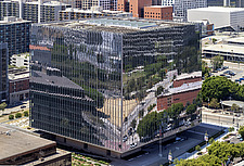 A high-angle, day shot of the new United States Courthouse, Los Angeles, California, USA - ARC105778
