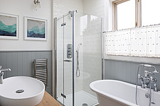Bathroom of a redesigned and remodelled family home in West London, UK - ARC105810