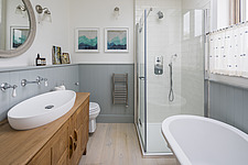 Bathroom of a redesigned and remodelled family home in West London, UK - ARC105812