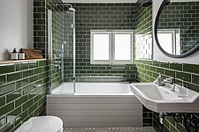 Bathroom of a redesigned and remodelled family home in West London, UK - ARC105813