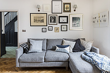 Living room in a redesigned and remodelled family home in West London, UK - ARC105824