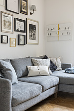Living room in a redesigned and remodelled family home in West London, UK - ARC105826