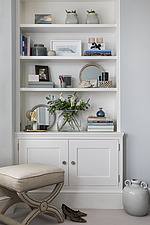 Built-in shelf and cupboard unit in a refurbished apartment in Hove, East Sussex, UK - ARC105843