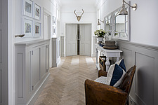 Hallway in a refurbished apartment in Hove, East Sussex, UK - ARC105847