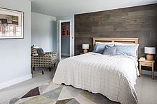 Bedroom of a renovated house by the sea in Hampshire, UK - ARC105873