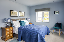 Bedroom of a renovated house by the sea in Hampshire, UK - ARC105874