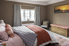 Bedroom of a renovated house by the sea in Hampshire, UK - ARC105882