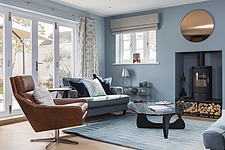 Living room in a renovated house by the sea in Hampshire, UK - ARC105886