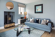 Living room in a renovated house by the sea in Hampshire, UK - ARC105888