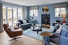 Living room in a renovated house by the sea in Hampshire, UK - ARC105889