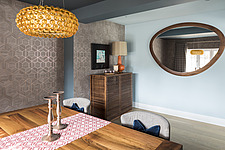 Dining room in a renovated house by the sea in Hampshire, UK - ARC105892