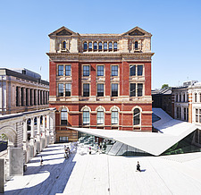 Elevated view of the Exhibition Road Quarter at the Victoria and Albert Museum, London UK - ARC106549